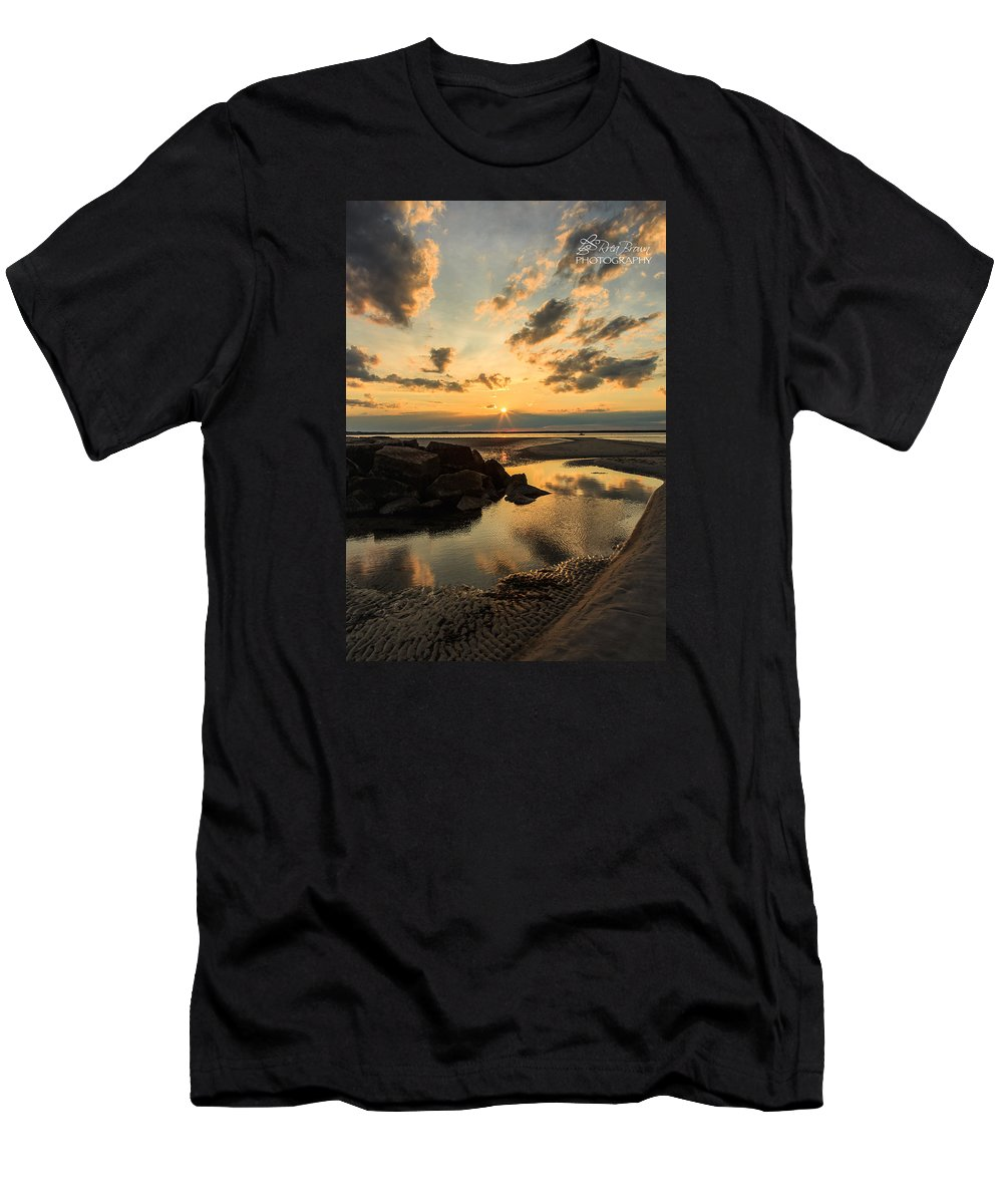 Sunset Men's T-Shirt (Athletic Fit) featuring the photograph 148 by Rrea Brown