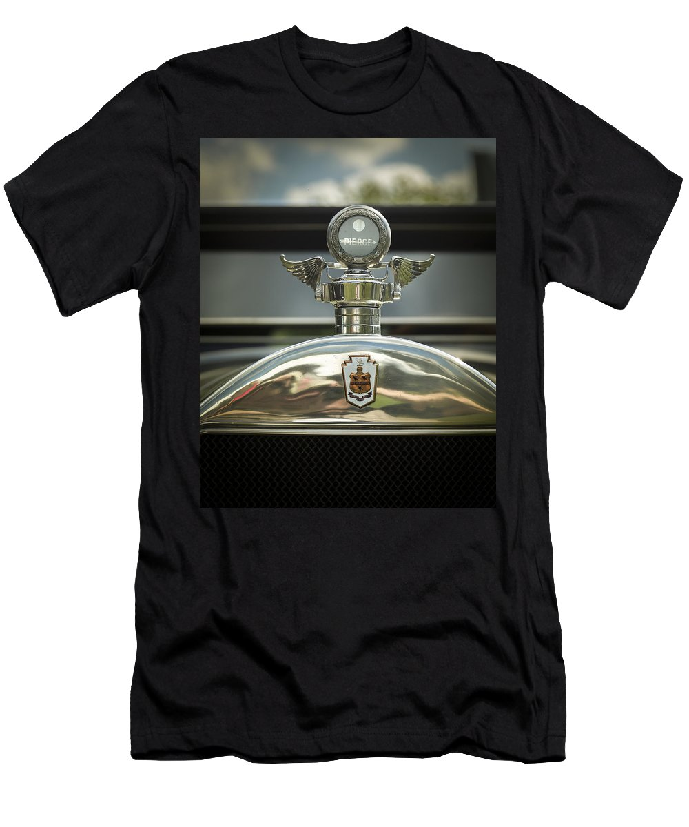American Men's T-Shirt (Athletic Fit) featuring the photograph 1928 Pierce Arrow Series 36 7 Passenger Touring by Jack R Perry