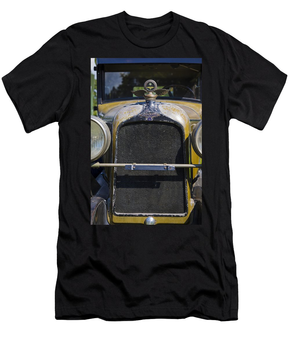 Antique Men's T-Shirt (Athletic Fit) featuring the photograph 1929 Duesenberg Model J Convertible - Barn Fresh by Jack R Perry