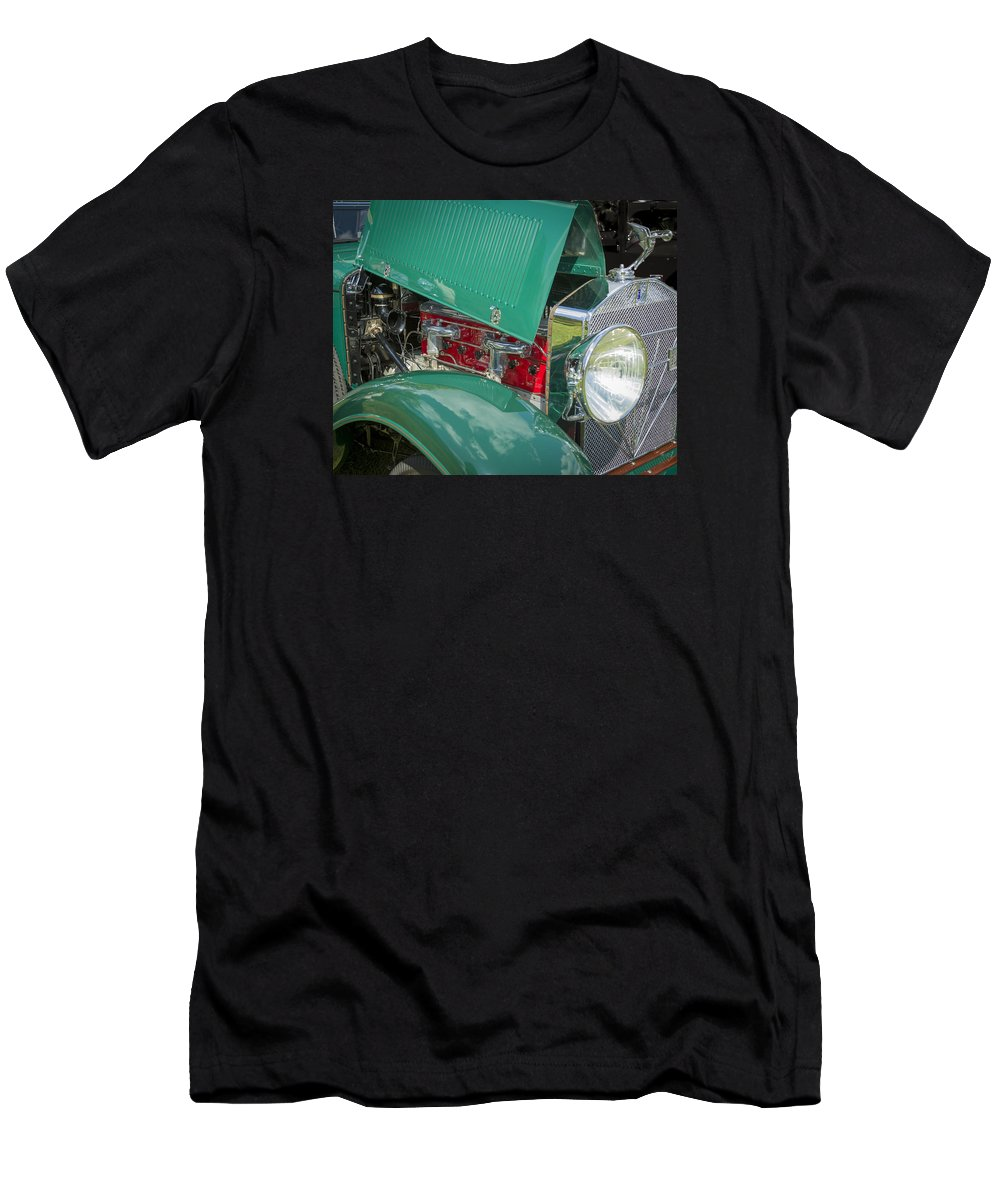 American Men's T-Shirt (Athletic Fit) featuring the photograph 1929 Isotta Fraschini Tipo 8a Convertible Sedan by Jack R Perry