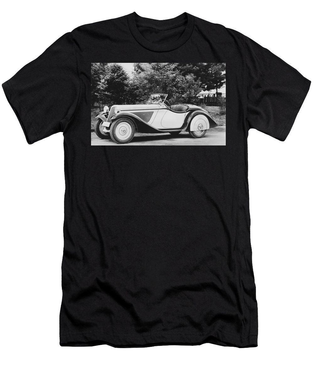 1930s Men's T-Shirt (Athletic Fit) featuring the photograph 1937 Bmw Convertible by Underwood Archives