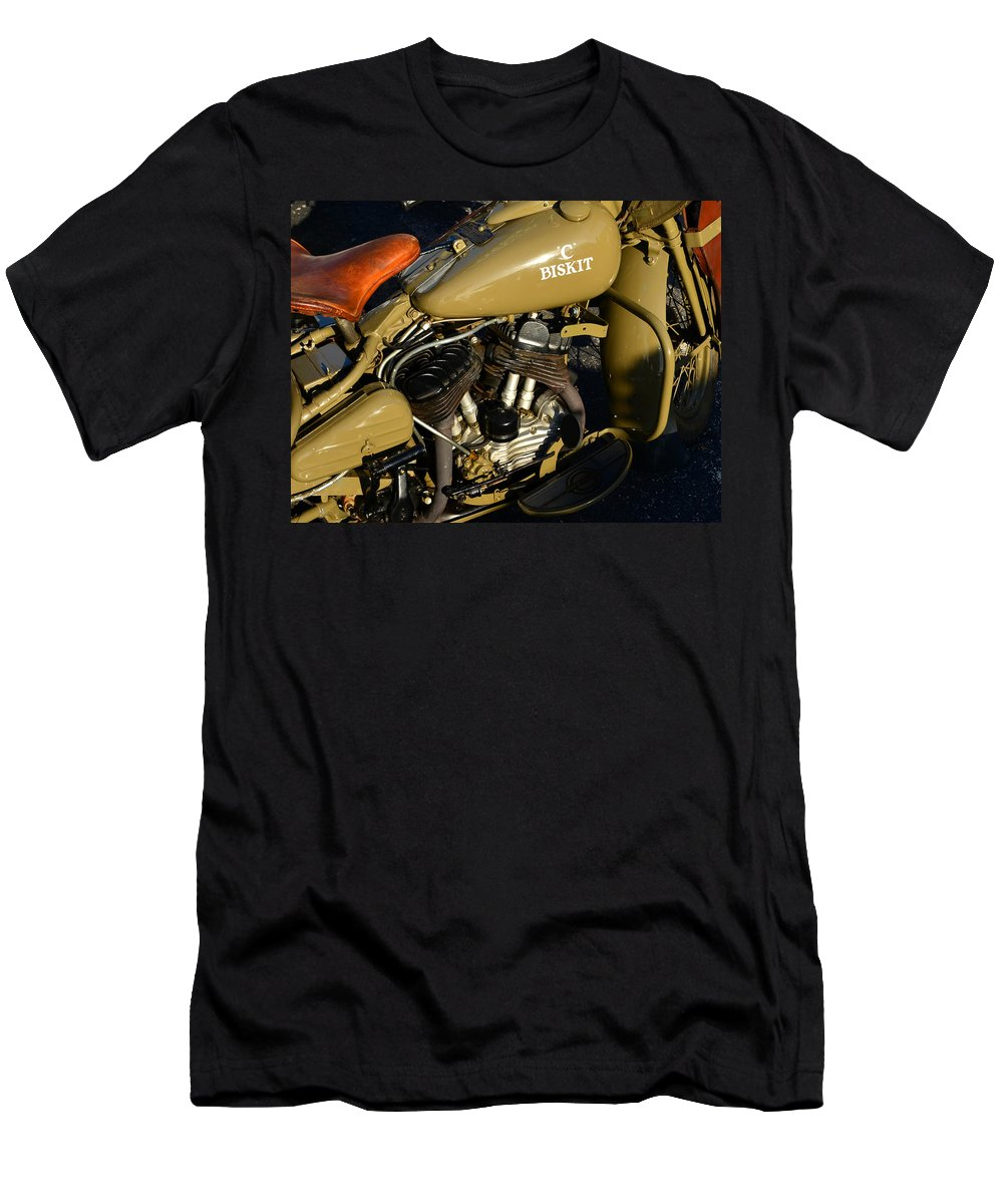 1942 Harley Davidson Motorcycle Men's T-Shirt (Athletic Fit) featuring the photograph 1942 Wla Harley Davidson by David Lee Thompson
