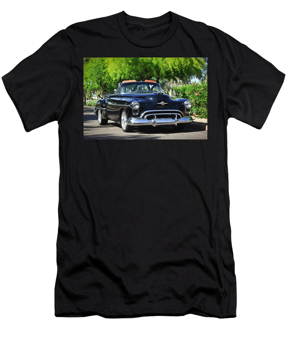 1950 Oldsmobile 88 Men's T-Shirt (Athletic Fit) featuring the photograph 1950 Oldsmobile 88 -105c by Jill Reger