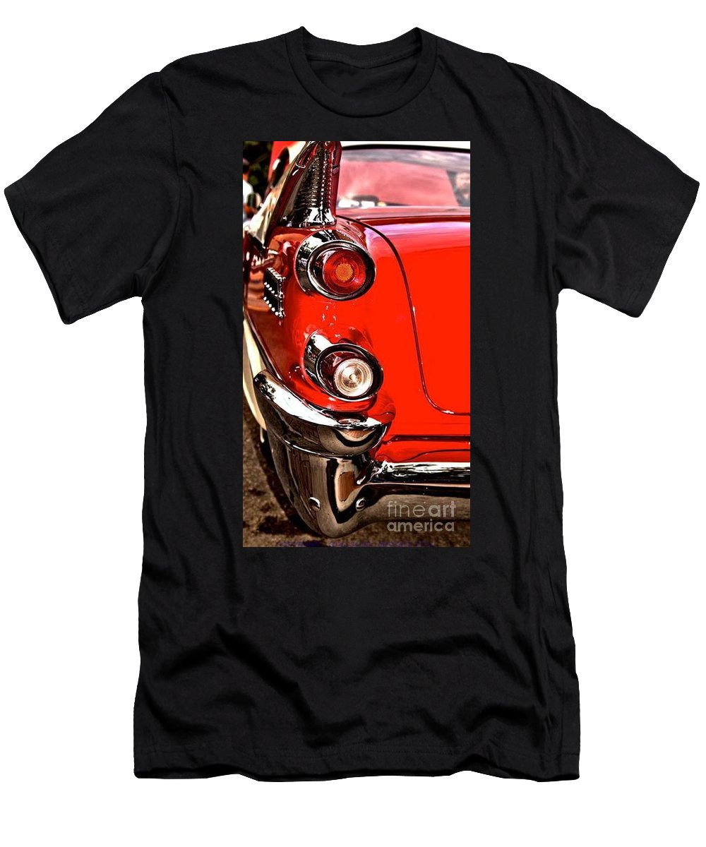 1959 Dodge Custom Royal Lancer Tail Light Prints Men's T-Shirt (Athletic Fit) featuring the photograph 1959 Dodge by R A W M