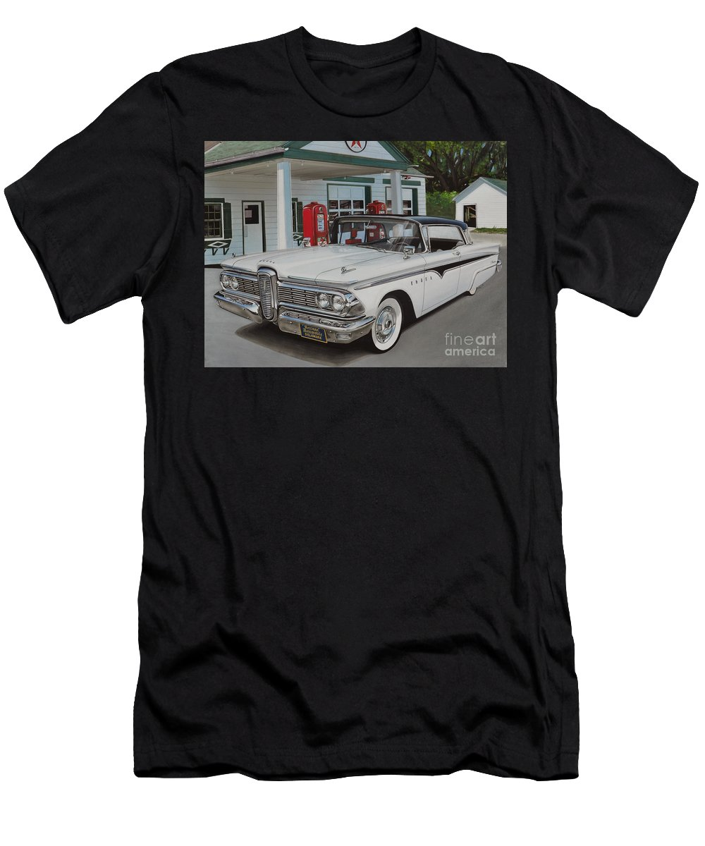 Edsel Men's T-Shirt (Athletic Fit) featuring the drawing 1959 Edsel Ranger by Paul Kuras