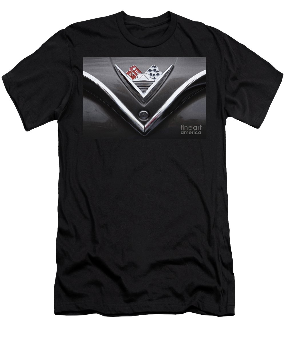 1961 Chevrolet Men's T-Shirt (Athletic Fit) featuring the photograph 1961 Chevrolet by Dennis Hedberg
