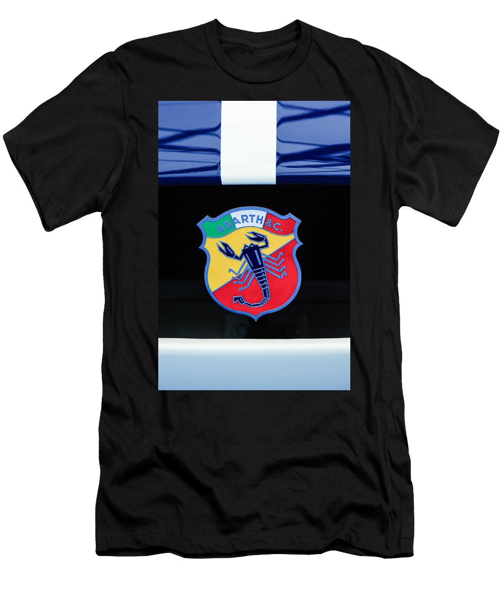 1961 Fiat-abarth 1000 Bialbero Gt Competition Coupe Emblem Men's T-Shirt (Athletic Fit) featuring the photograph 1961 Fiat-abarth 1000 Bialbero Gt Competition Coupe Emblem by Jill Reger