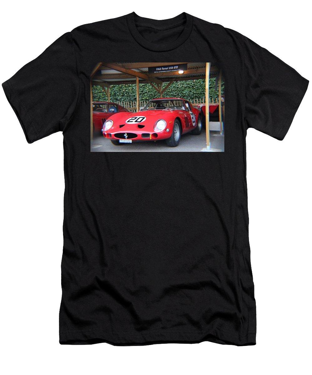 Ferrari Gto Men's T-Shirt (Athletic Fit) featuring the photograph 1962 Ferrari 250 Gto by Robert Phelan