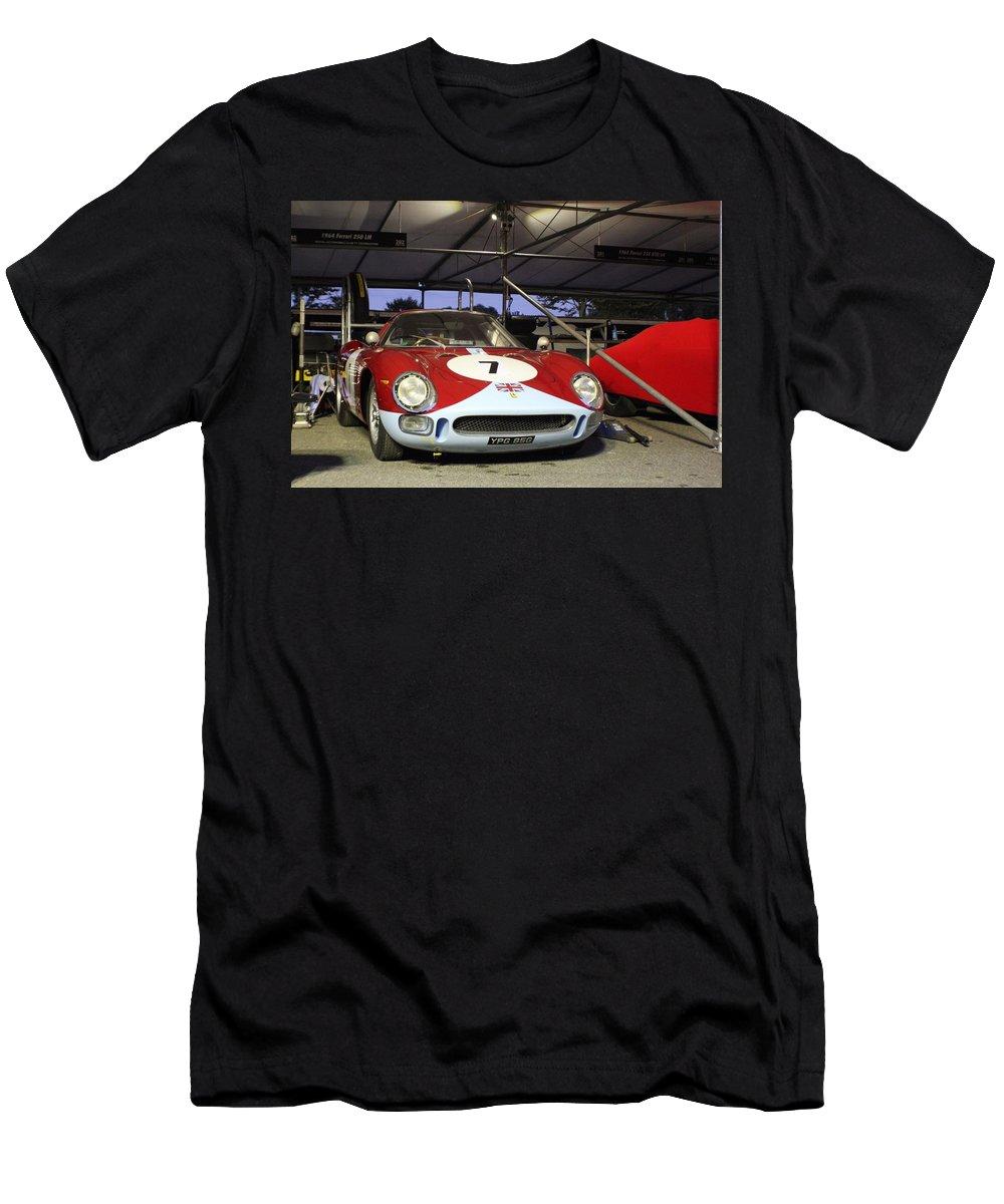 1964 Ferrari 250 Lm Men's T-Shirt (Athletic Fit) featuring the photograph 1964 Ferrari 250 Lm by Robert Phelan