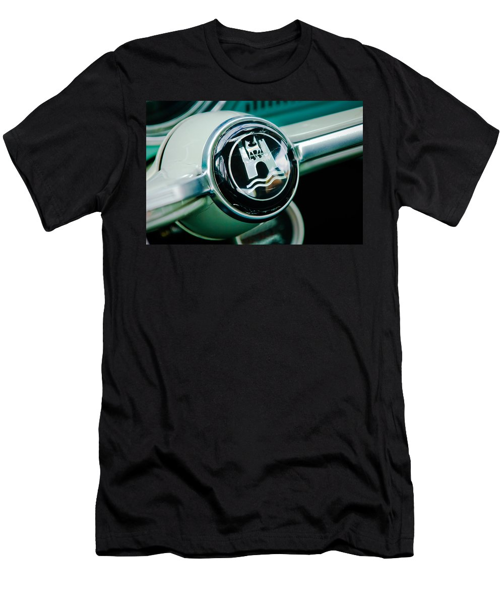 1964 Volkswagen Men's T-Shirt (Athletic Fit) featuring the photograph 1964 Volkswagen Vw Steering Wheel by Jill Reger