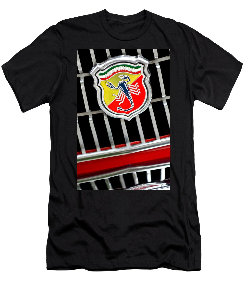 1967 Fiat Abarth 1000 Otr Men's T-Shirt (Athletic Fit) featuring the photograph 1967 Fiat Abarth 1000 Otr Emblem by Jill Reger