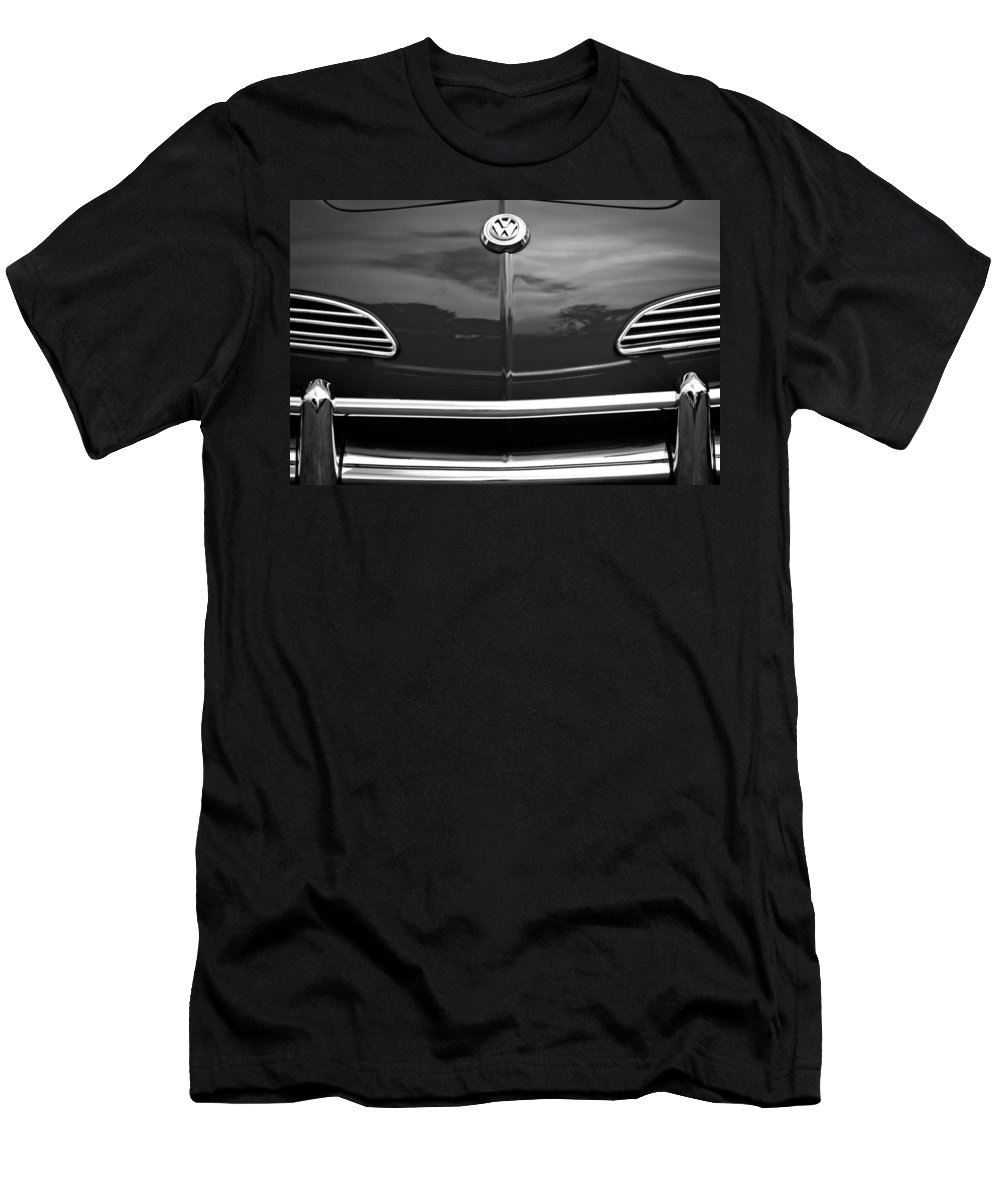 1968 Volkswagen Karmann Ghia Convertible Men's T-Shirt (Athletic Fit) featuring the photograph 1968 Volkswagen Karmann Ghia Convertible by Jill Reger