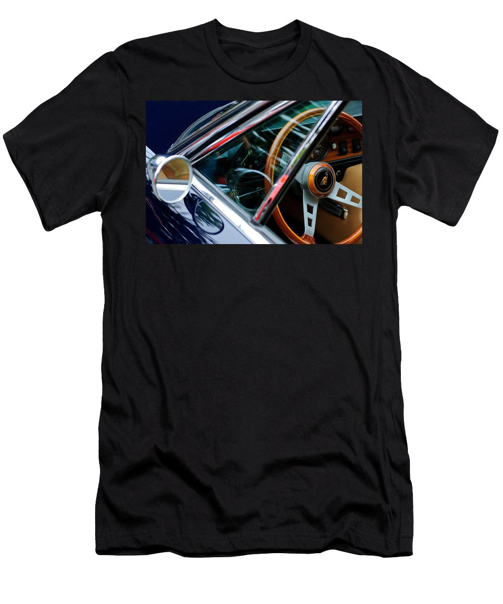 1969 Lamborghini Islero Steering Wheel Emblem Men's T-Shirt (Athletic Fit) featuring the photograph 1969 Lamborghini Islero Steering Wheel Emblem by Jill Reger