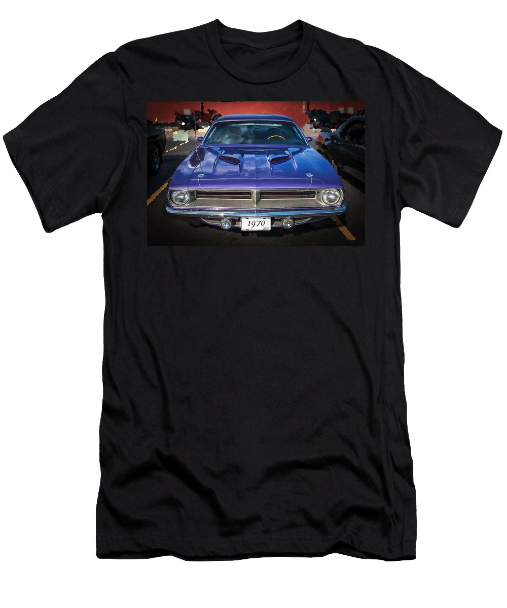 220564607 1970 Plymouth Men's T-Shirt (Athletic Fit) featuring the photograph 1970  Plymouth Hemi