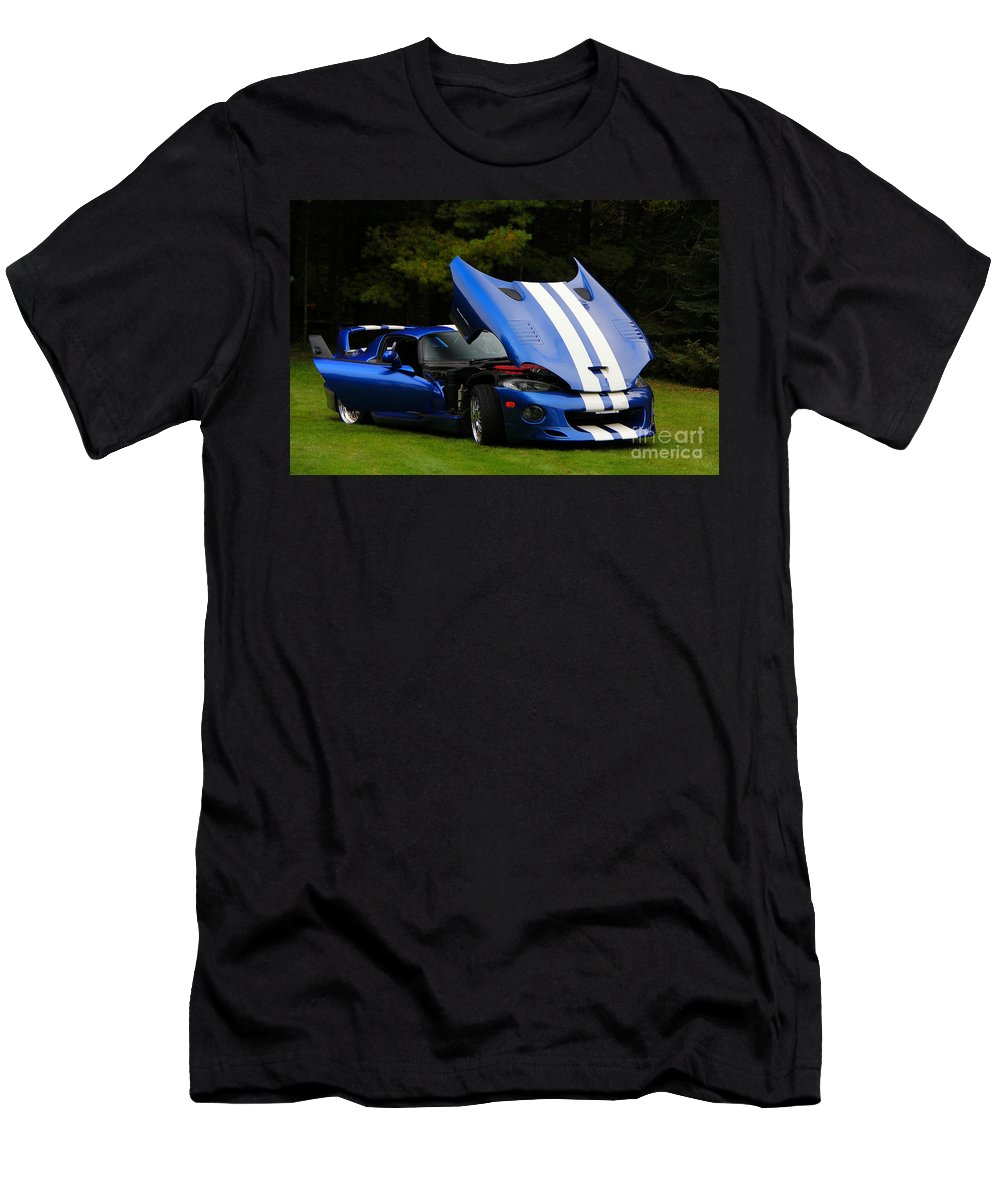 Car Men's T-Shirt (Athletic Fit) featuring the photograph 1997 Viper Hennessey Venom 650r 4 by Davandra Cribbie