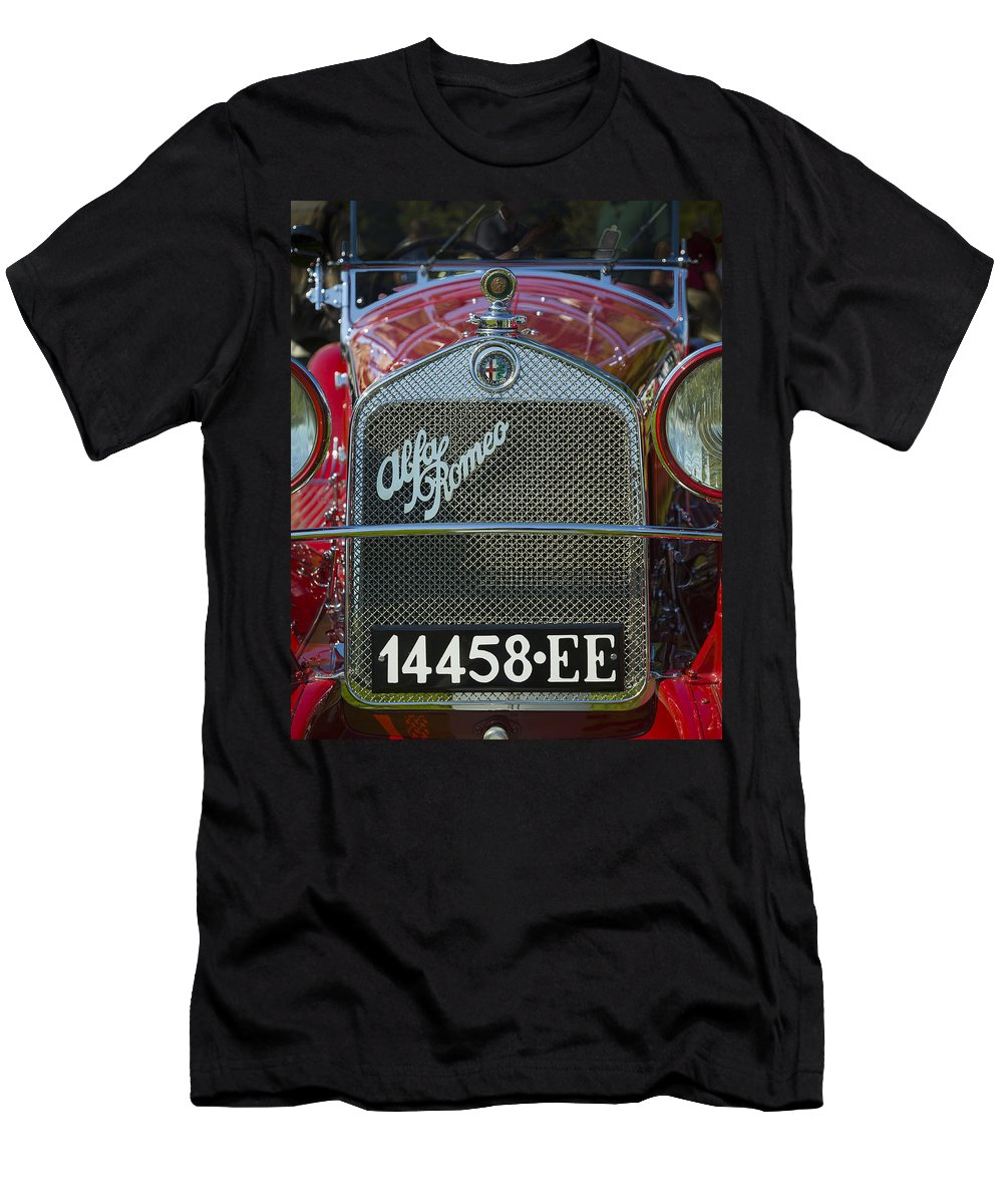American Men's T-Shirt (Athletic Fit) featuring the photograph 1931 Alpha Romeo Type 6c 1750 Gran Sport by Jack R Perry
