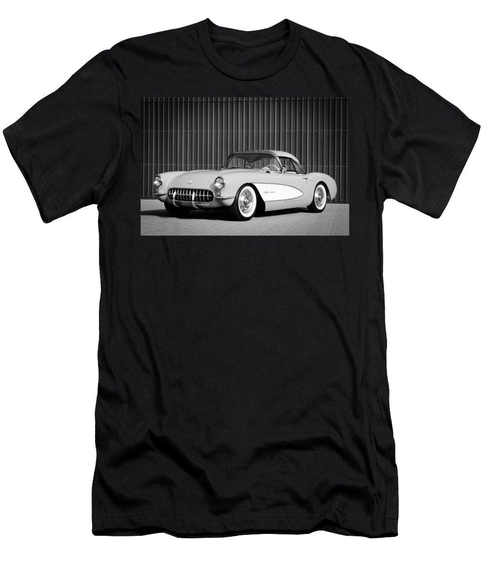 1957 Chevrolet Corvette Men's T-Shirt (Athletic Fit) featuring the photograph 1957 Chevrolet Corvette by Jill Reger