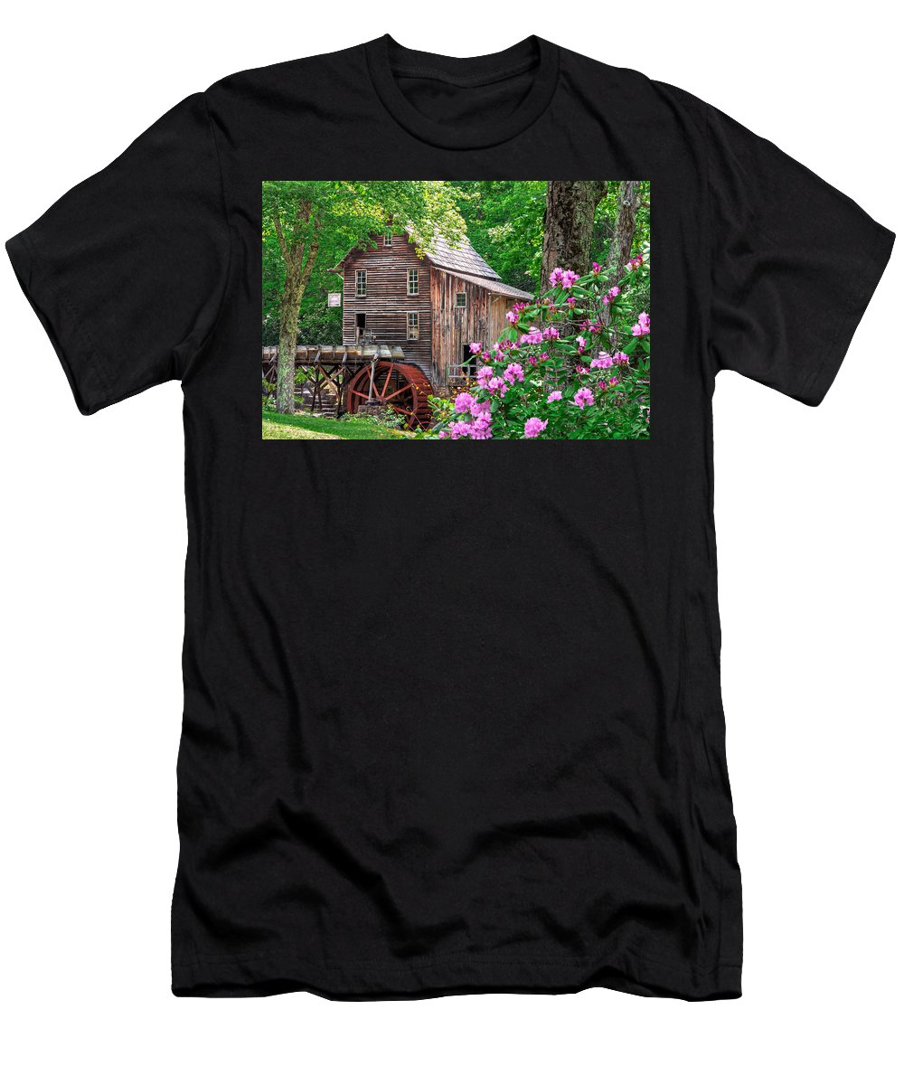 Babcock State Park Men's T-Shirt (Athletic Fit) featuring the photograph Babcock State Park by Mary Almond