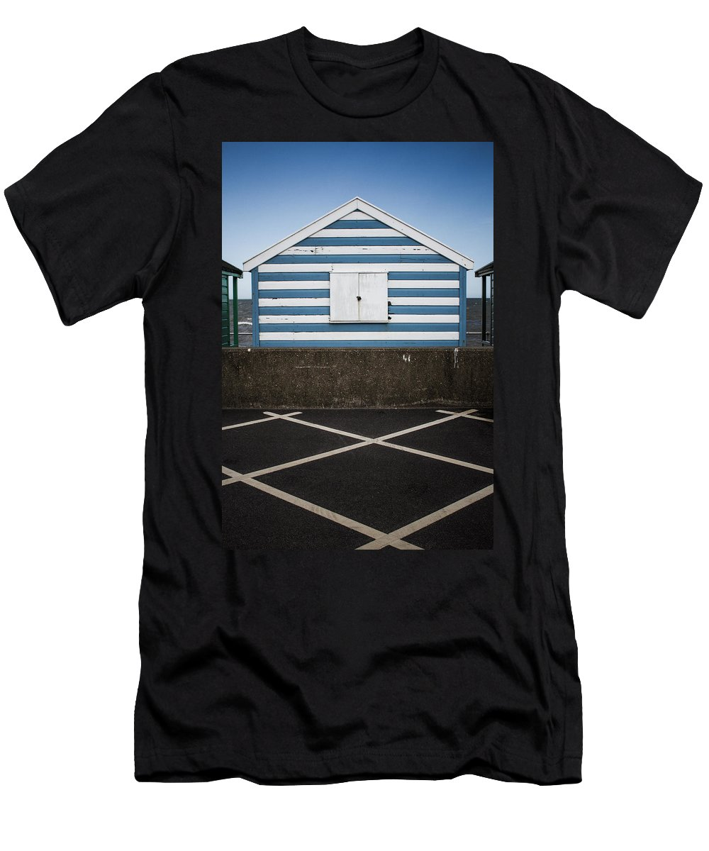 Beach Hut Men's T-Shirt (Athletic Fit) featuring the photograph Beach Hut 41 by Dayne Reast