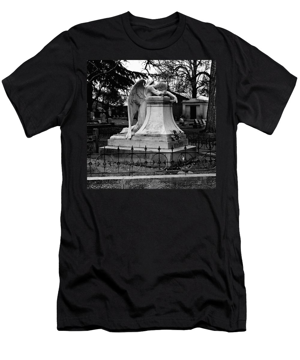 Guardian Men's T-Shirt (Athletic Fit) featuring the photograph Broken Angel by Peter Piatt