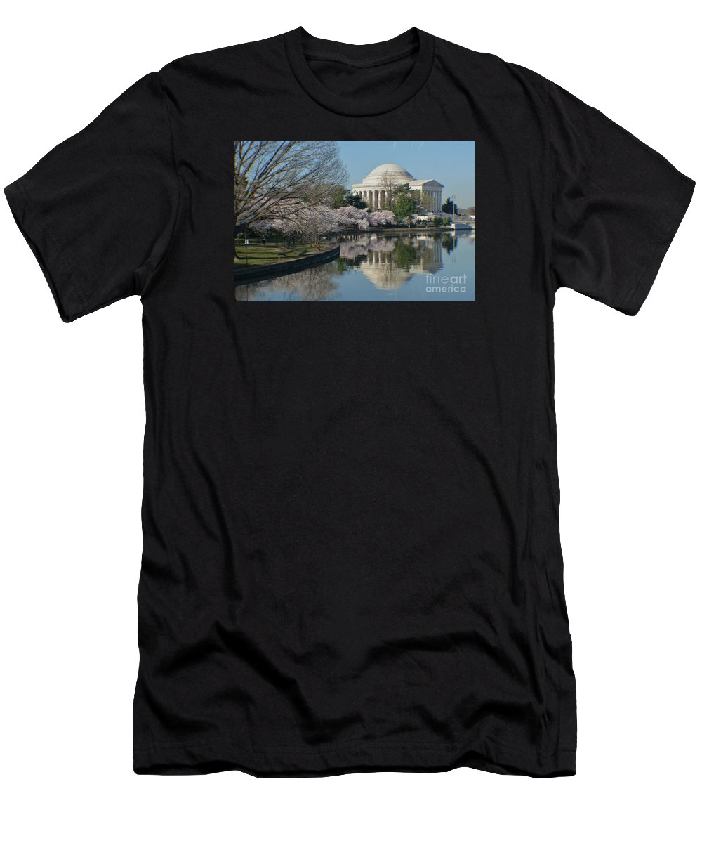 Cherry Blossoms Men's T-Shirt (Athletic Fit) featuring the photograph Cherry Blossoms by Luv Photography