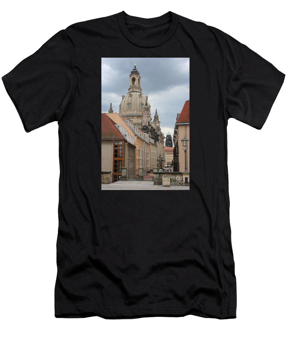 Church Men's T-Shirt (Athletic Fit) featuring the photograph Church Of Our Lady - Dresden - Germany by Christiane Schulze Art And Photography