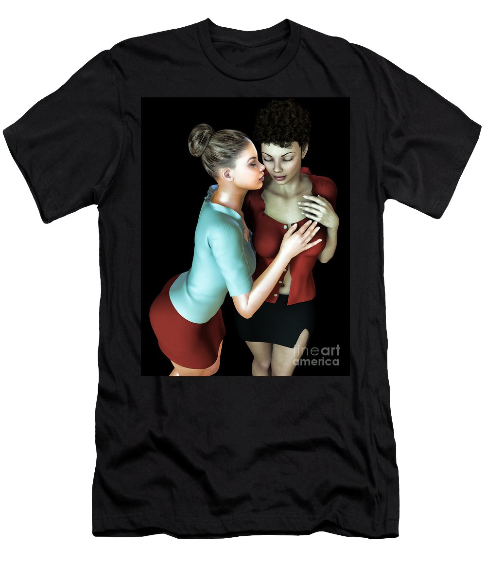 3d Men's T-Shirt (Athletic Fit) featuring the digital art Corporate Affair by Alexander Butler