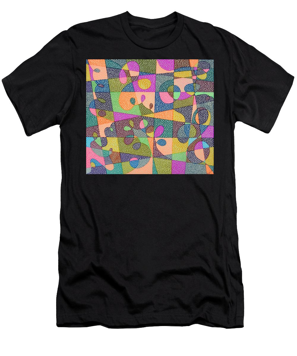 Abstract Men's T-Shirt (Athletic Fit) featuring the painting In The Loop by Kruti Shah