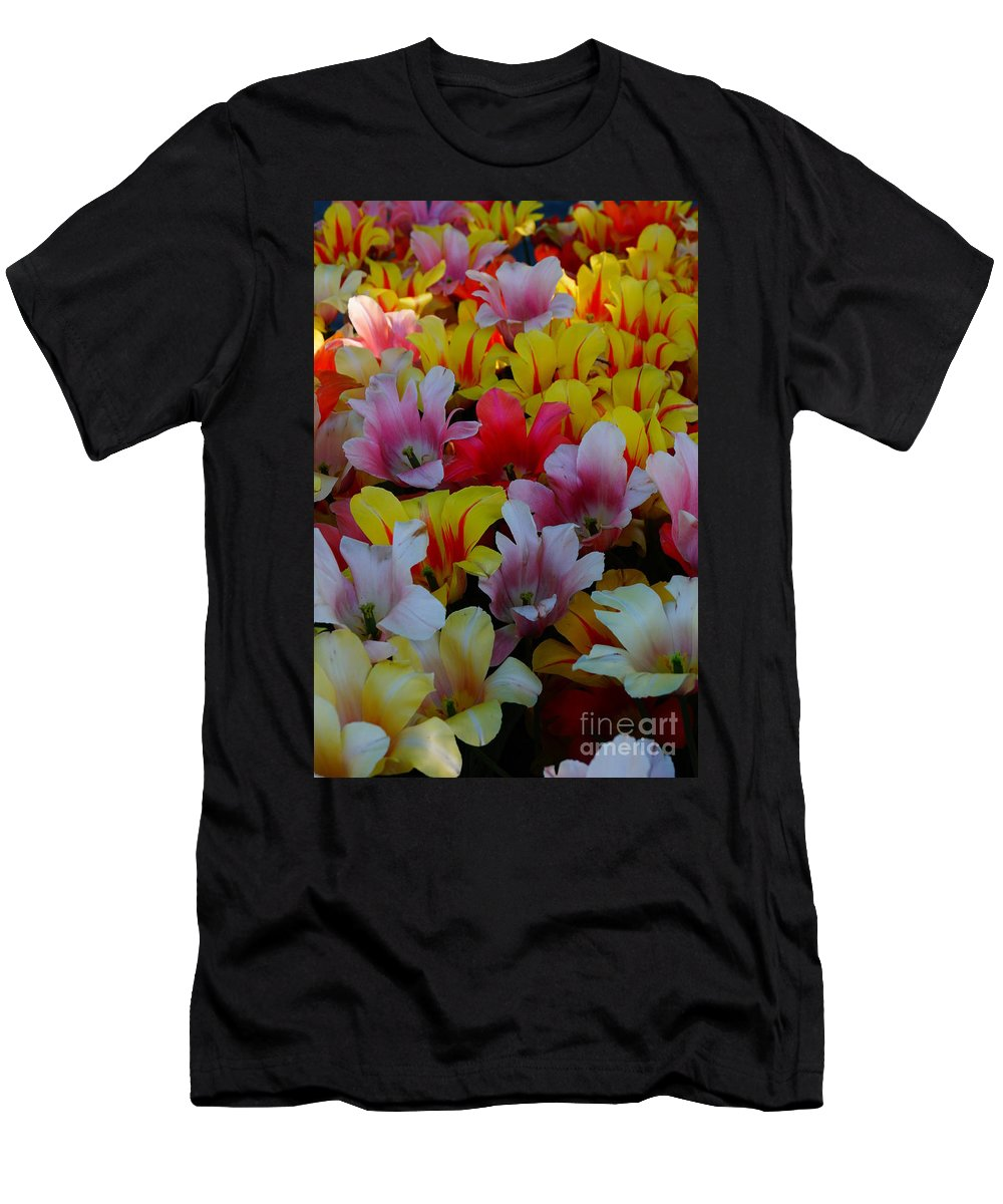 Flowers Men's T-Shirt (Athletic Fit) featuring the photograph Flowers by Jeffery L Bowers