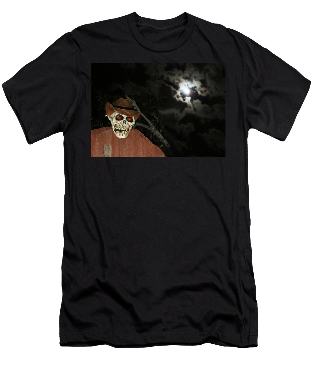 Fright Night Men's T-Shirt (Athletic Fit) featuring the photograph Fright Night 1 by Ellen Henneke