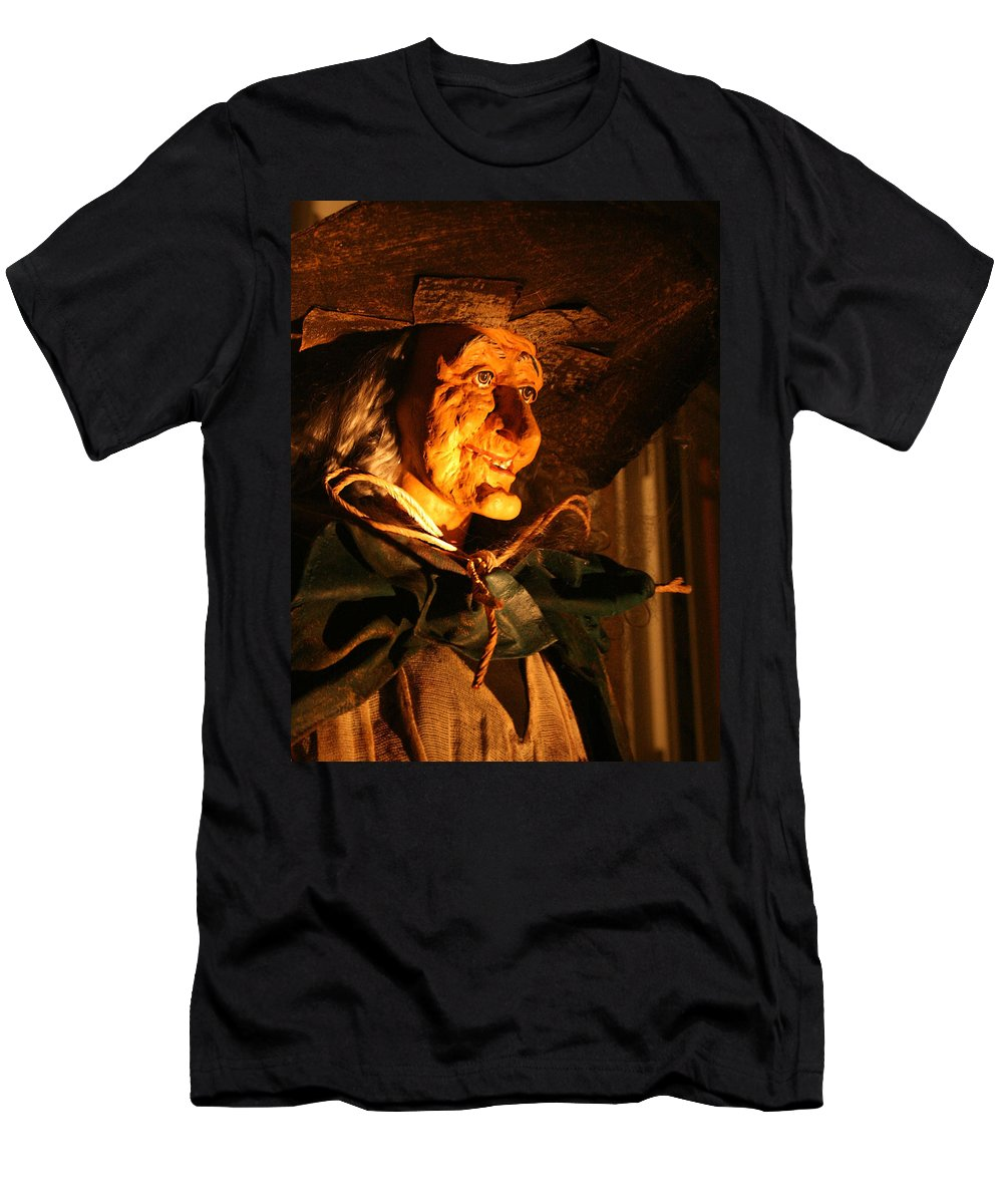 Fright Night Men's T-Shirt (Athletic Fit) featuring the photograph Fright Night 2 by Ellen Henneke