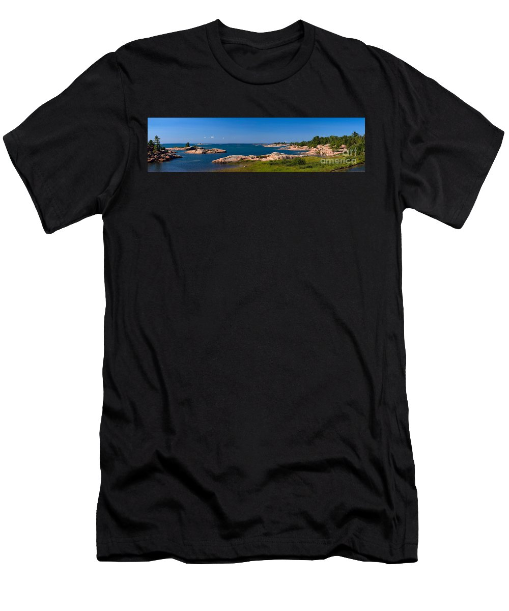 Georgian Men's T-Shirt (Athletic Fit) featuring the photograph Georgian Bay Coastline by Les Palenik