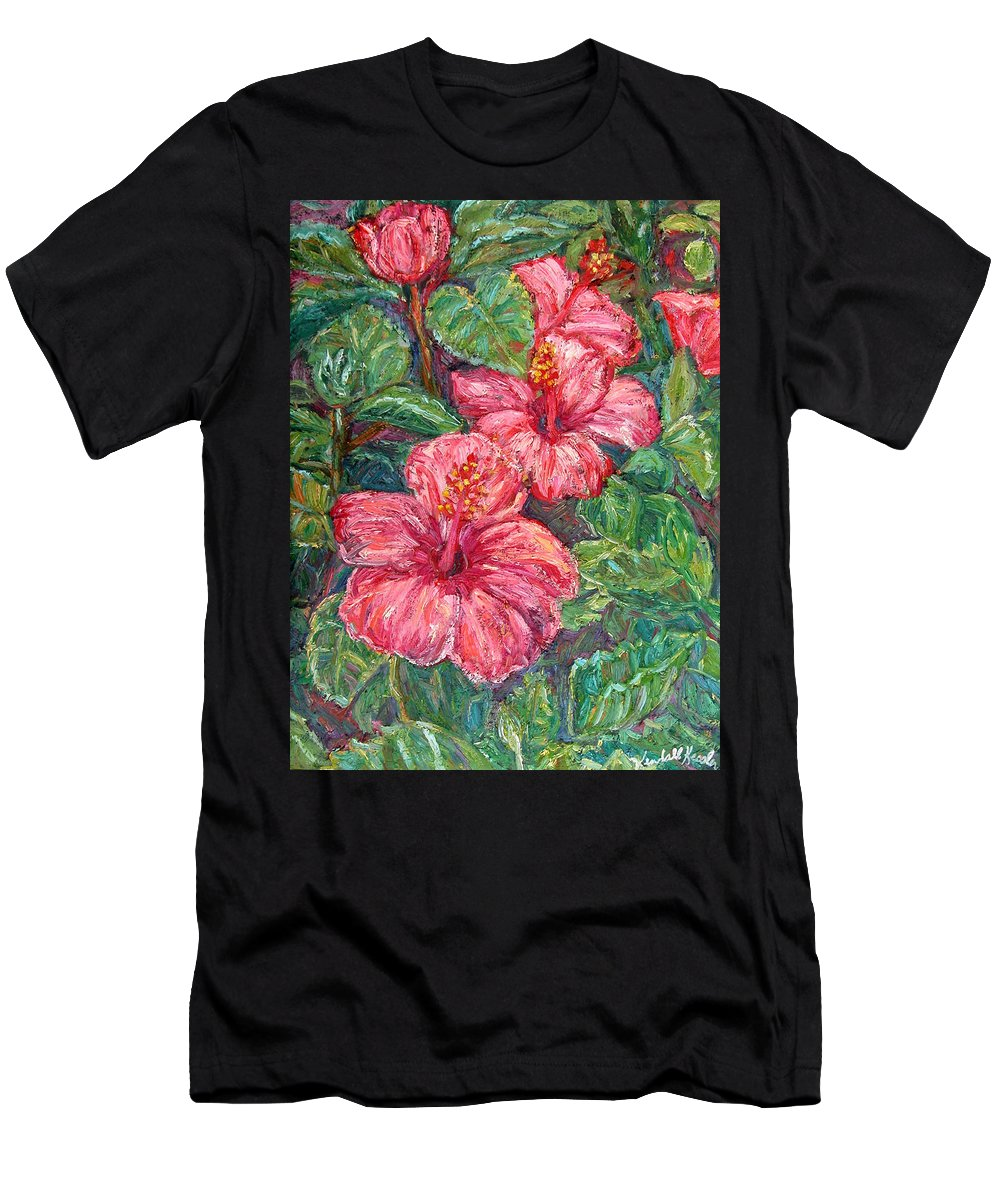 Hibiscus Men's T-Shirt (Athletic Fit) featuring the painting Hibiscus by Kendall Kessler