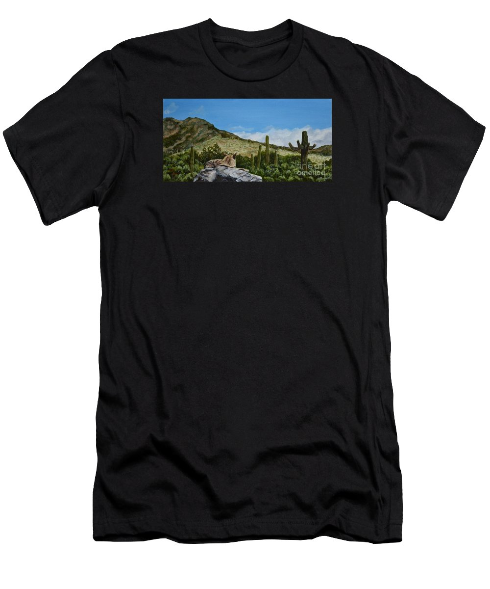 Oil Painting Men's T-Shirt (Athletic Fit) featuring the painting His Domain by Mary Rogers