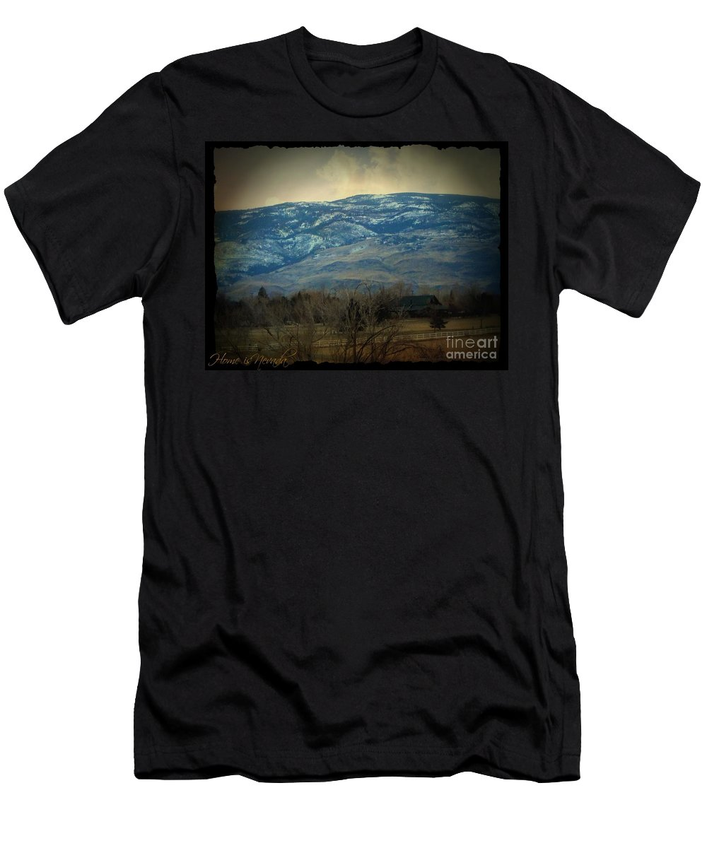 Home Is Nevada Men's T-Shirt (Athletic Fit) featuring the photograph Home Is Nevada by Bobbee Rickard