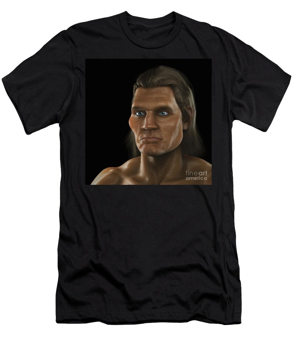 Biomedical Illustration Men's T-Shirt (Athletic Fit) featuring the photograph Homo Sapiens by Science Picture Co