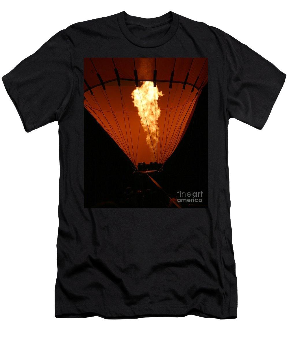 Adventure Men's T-Shirt (Athletic Fit) featuring the photograph Hot Air Balloon by Henrik Lehnerer
