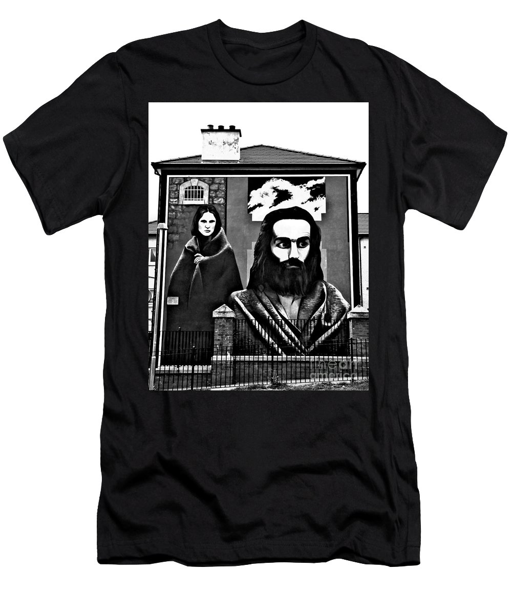 Hunger Strike Men's T-Shirt (Athletic Fit) featuring the photograph Hunger Striker by Nina Ficur Feenan