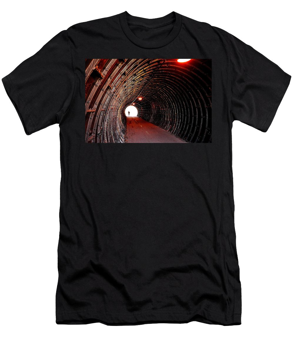 Spotlight Men's T-Shirt (Athletic Fit) featuring the photograph In The Spotlight by Frozen in Time Fine Art Photography