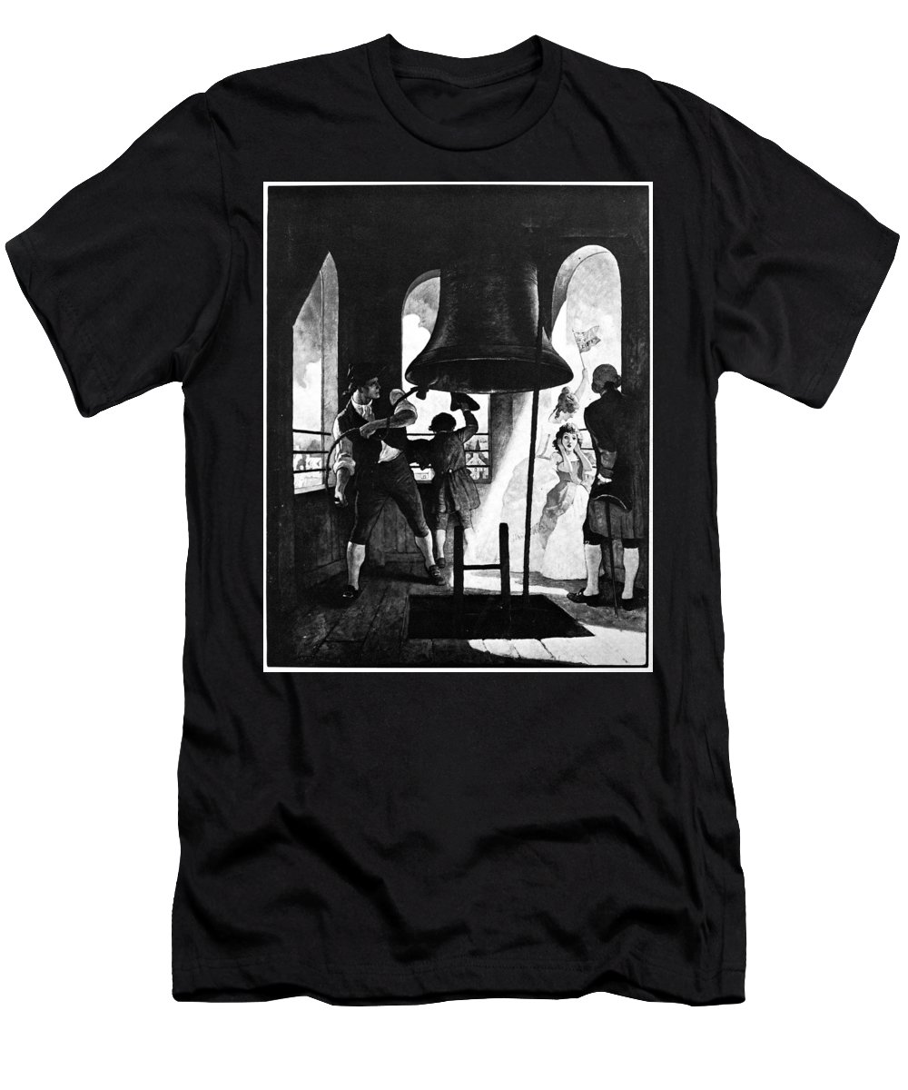 1776 Men's T-Shirt (Athletic Fit) featuring the photograph Liberty Bell, 1776 by Granger