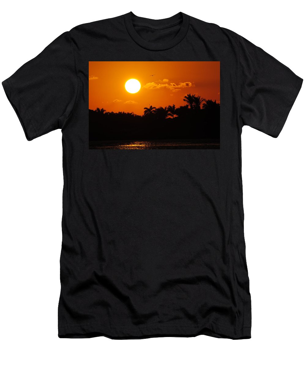 Marco Men's T-Shirt (Athletic Fit) featuring the photograph Marco Island Sunset by David Hart
