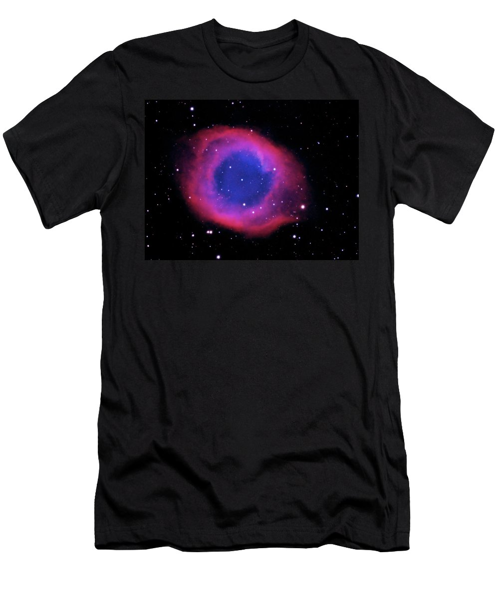 Ngc 7293 Men's T-Shirt (Athletic Fit) featuring the photograph Ngc 7293 The Helix Nebula by Alan Vance Ley
