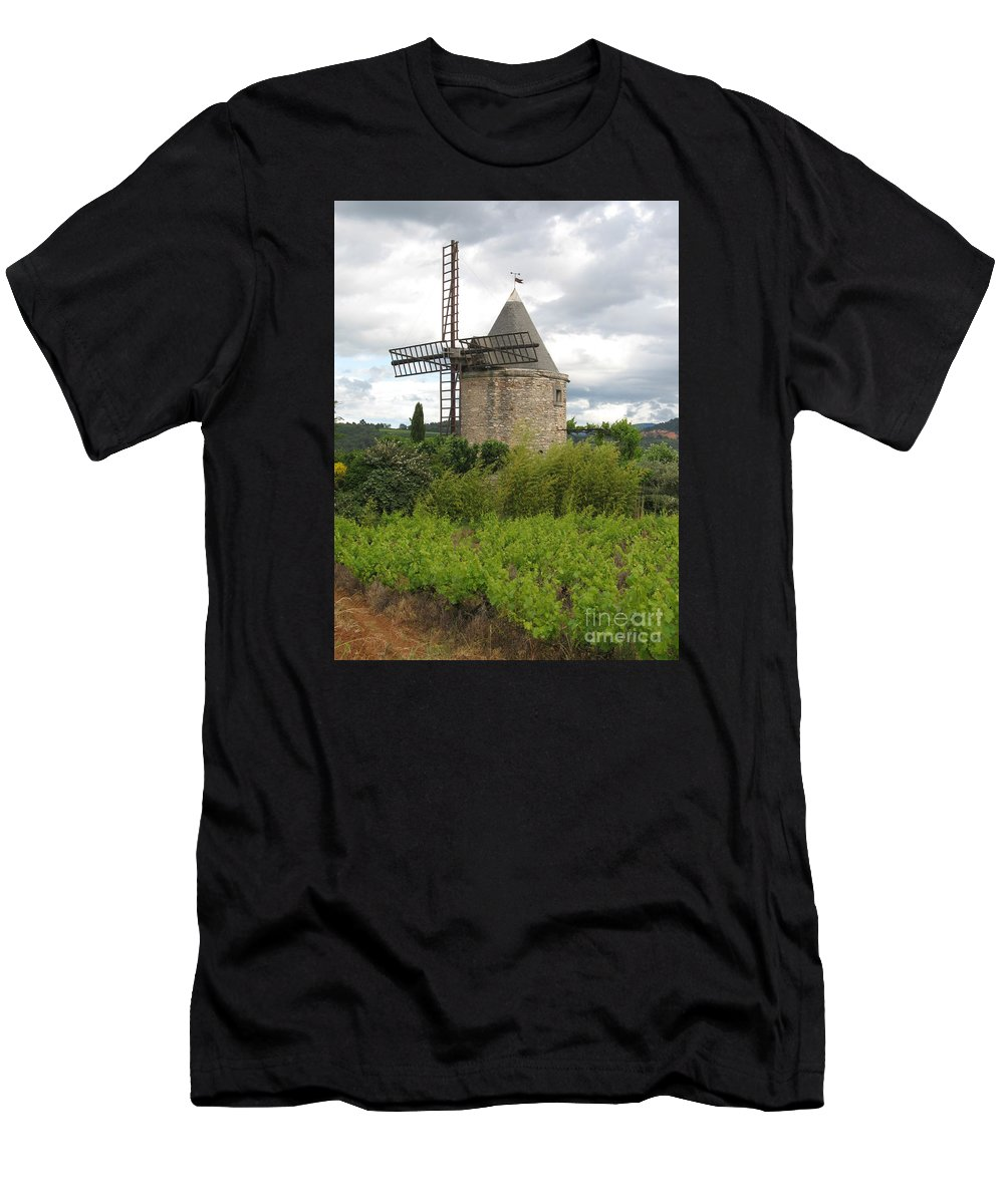 Mill Men's T-Shirt (Athletic Fit) featuring the photograph Old Windmill by Christiane Schulze Art And Photography