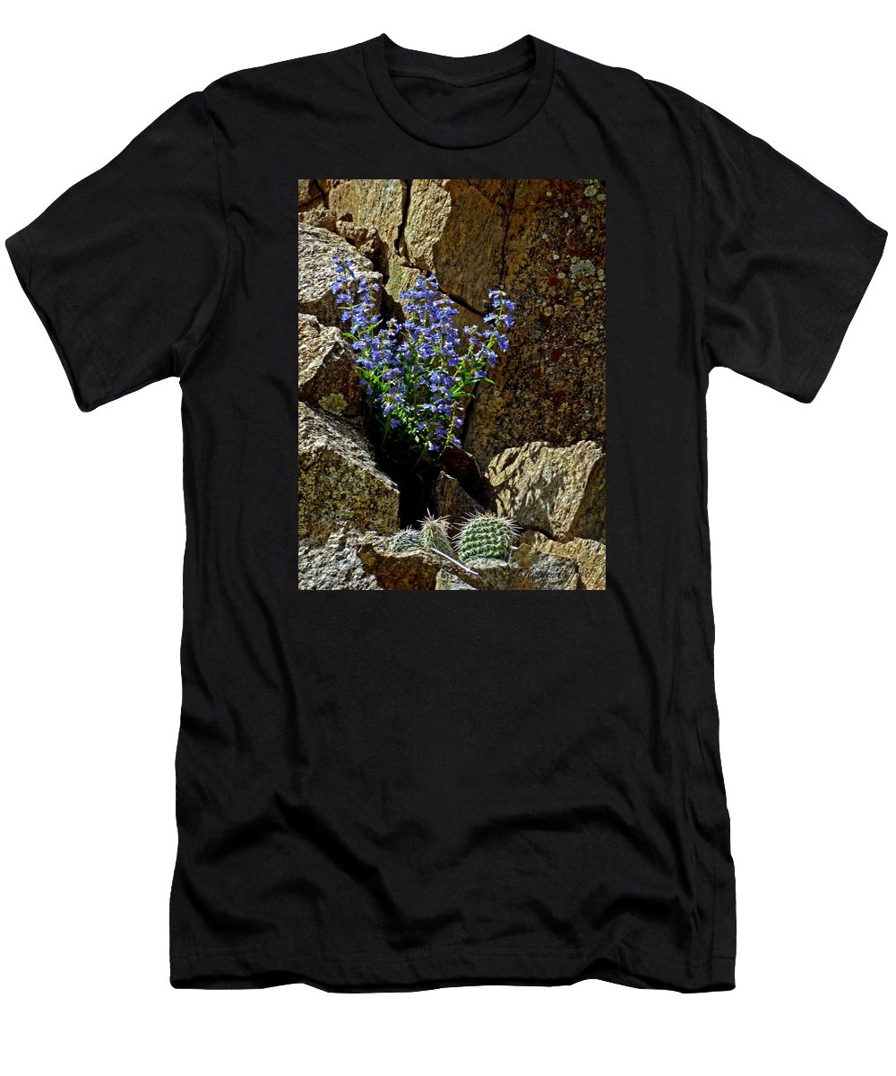 Wildflower Photography Men's T-Shirt (Athletic Fit) featuring the photograph Persistence by George Tuffy