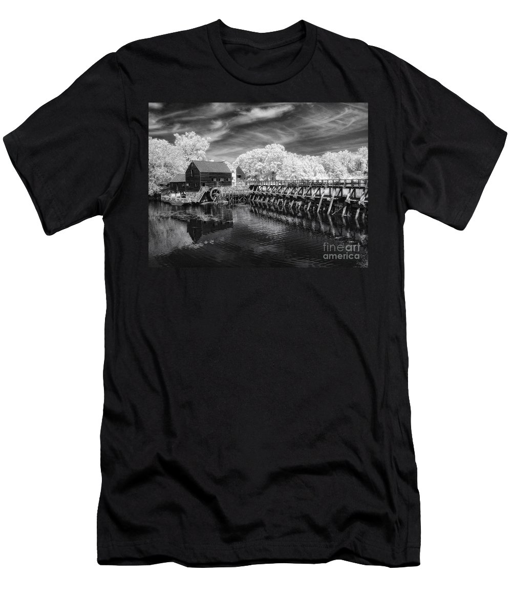 Ir Men's T-Shirt (Athletic Fit) featuring the photograph Philipsburg Mill by Claudia Kuhn