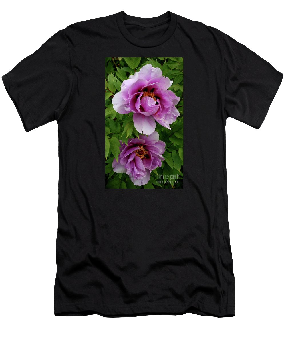 Peony Men's T-Shirt (Athletic Fit) featuring the photograph Pink Peonies by Christiane Schulze Art And Photography