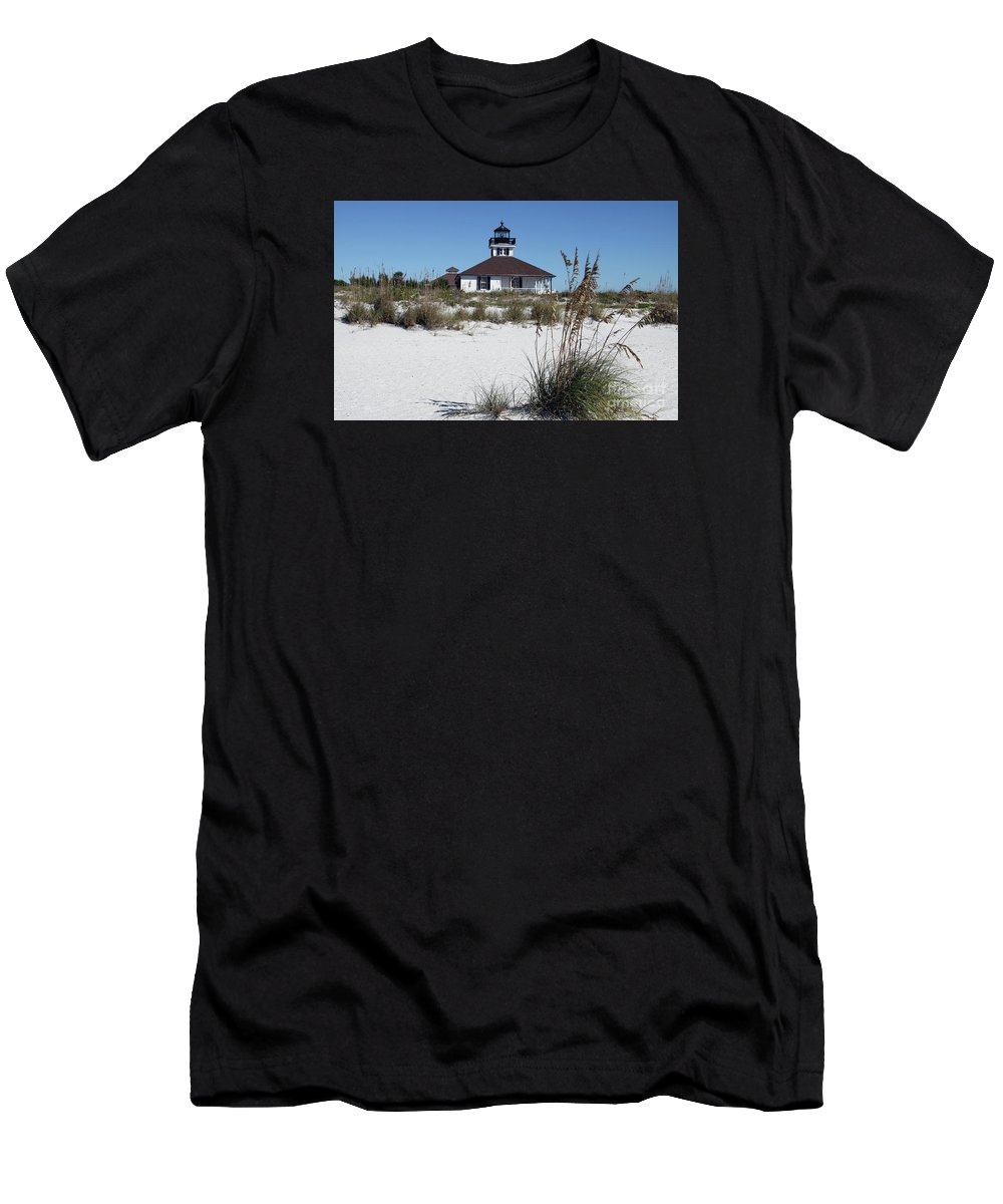Port Boca Grande Lighthouse Men's T-Shirt (Athletic Fit) featuring the photograph Port Boca Grande Lighthouse by Christiane Schulze Art And Photography