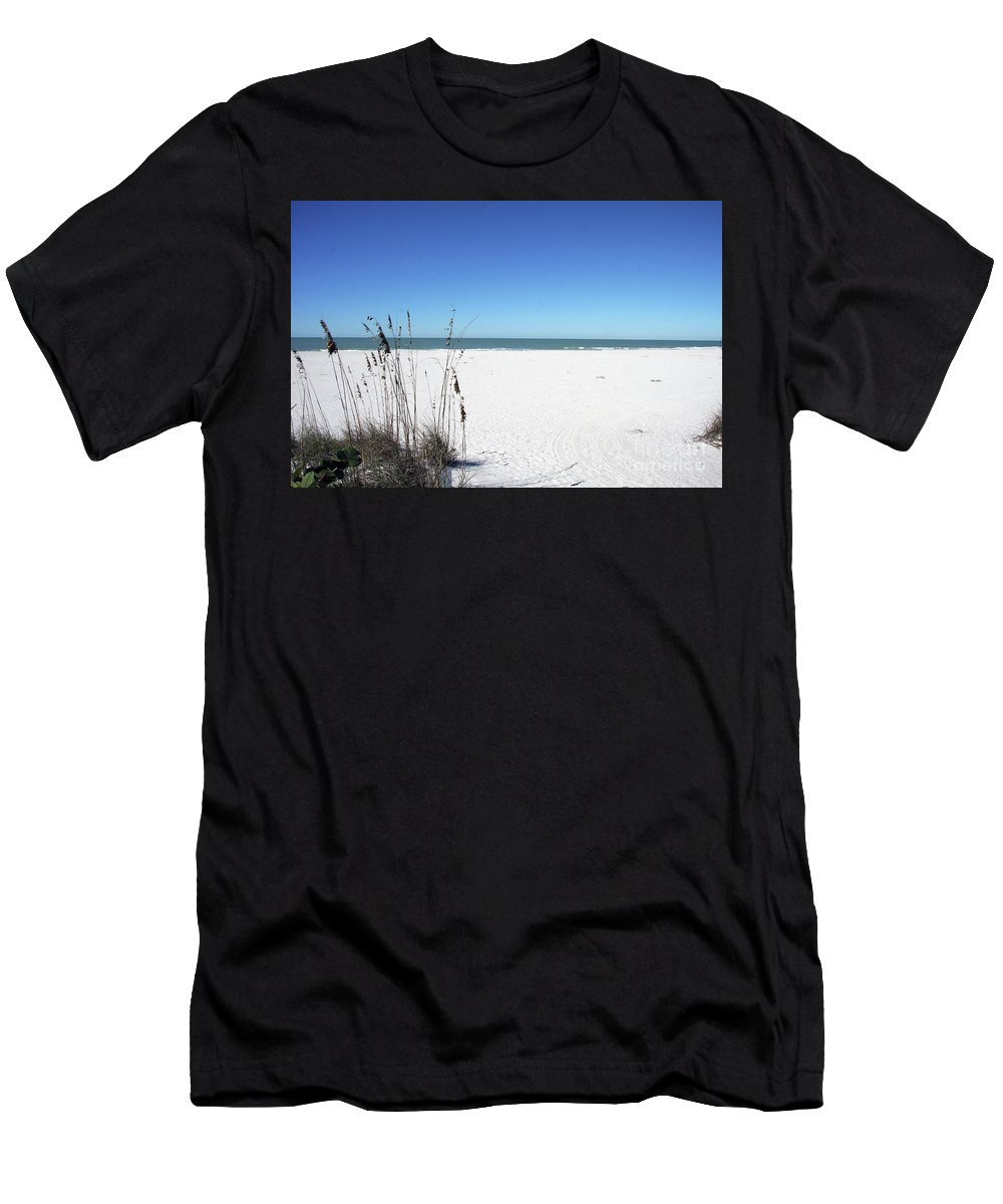Seaoats Men's T-Shirt (Athletic Fit) featuring the photograph Seaoats On The Beach by Christiane Schulze Art And Photography