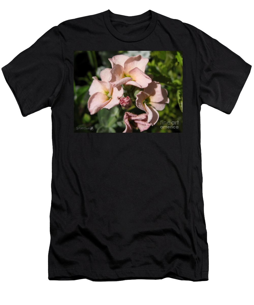 Mccombie Men's T-Shirt (Athletic Fit) featuring the photograph Single Peach Stocks From The Vintage Mix by J McCombie