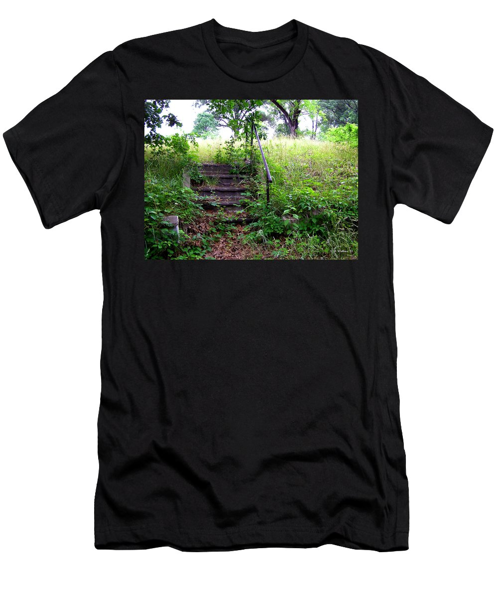 2d Men's T-Shirt (Athletic Fit) featuring the photograph Steps To Yesterday by Brian Wallace
